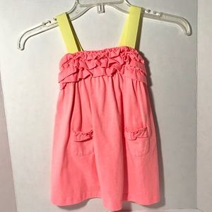 Gymboree Pink Dress with Yellow Straps Size 18-24M